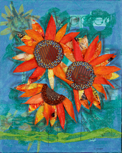 """Sunflowers"" Mixed Media"